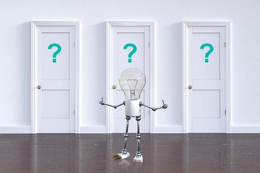 Question Mark, Choice, Decision, Light Bulb, Question
