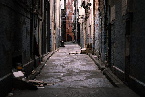 Ally, Street, Photography, Street Art, Rubbish, Dark