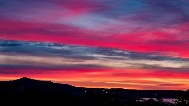 Sky, Colors, Clouds, Landscape, Dawn