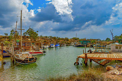 Fishing Boats, Dock, Fishing Shelter, Picturesque