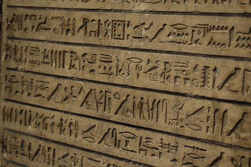 Hieroglyphic, Writing, Egyptian, Museum, Vienna