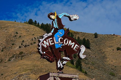 Jackson Cowboy Sign, Sign, Welcome, Jackson, Hole