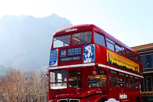 Bus, Red, United Kingdom, London, City, Transportation