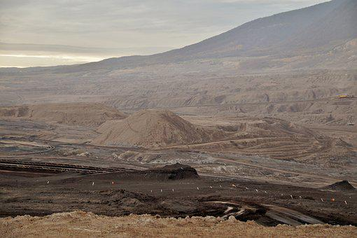 Monthly, Landscape, Surface, Mine, Lignite, Mining