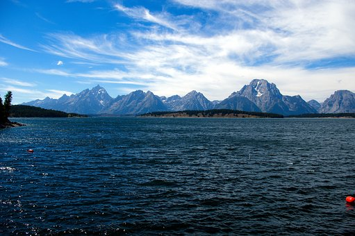 Grand Teton's Lake Jackson, Lake, Mountains, Grand