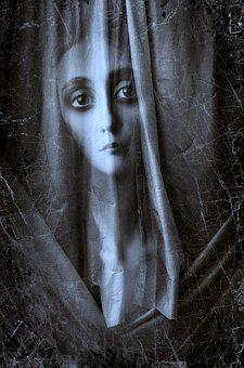 Book Cover, Portrait, Mourning, Cloth, Face, Emotional