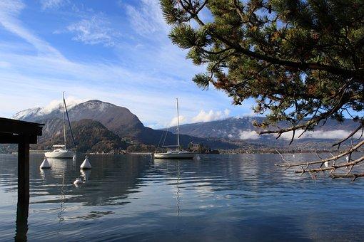 Lake, Talloire, Annecy, Mountain, Landscape, Nature