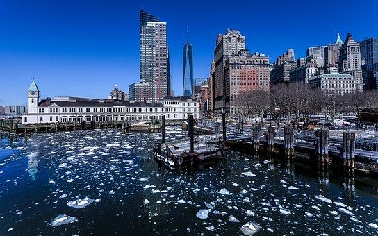 New York, Manhattan, Skyscrapers, Usa, Skyline