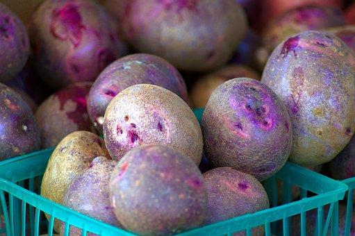 Purple Potatoes At Market, Potatoes, Market, Jackson