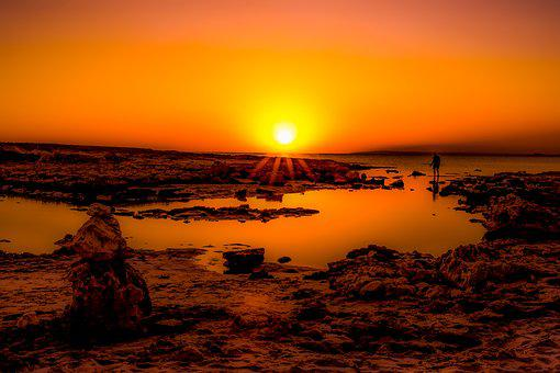 Sunset, Rocky Coast, Sea, Nature, Landscape, Dusk