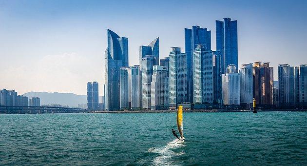 Haeundae Beach, Yacht, Sea, Maritime, Travel, Vacation
