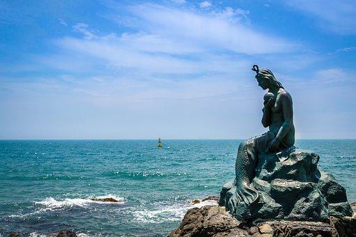 Mermaid, Haeundae Beach, Sea, Ocean Views