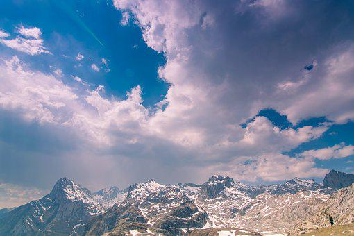 Clouds, Mountains, Landscape, Sky, Nature, Trees