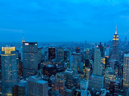 New York, City Light, Metropolitan, Skyline, Skyscraper