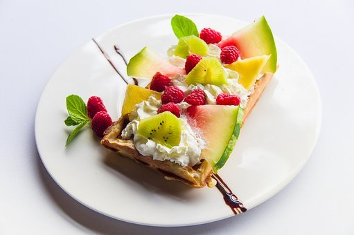 Waffles, Tasty, Eating, Delicious, Meal, Fresh, Gourmet