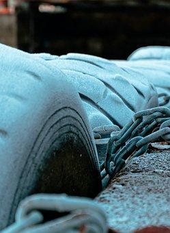 Tire, Frozen Chains, Cold, Winter, Frozen, Chain, Ice
