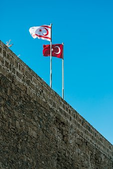 Cyprus, Flag, Turkey, Kyrenia, Travel, Fort, Tarik