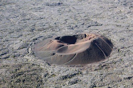 Crater, Volcano, Landscape, Geology, Lava