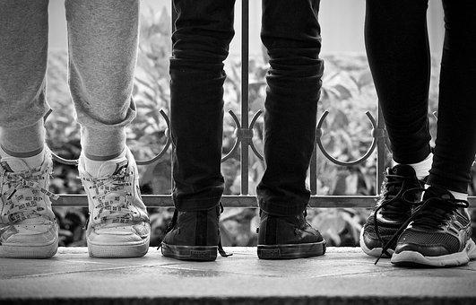 Shoes, Legs, Boys, Waiting, Sport, Relaxation, Young