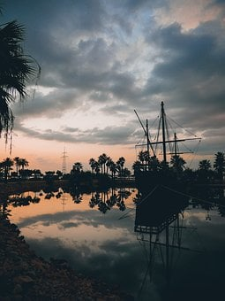Mirroring, Ship, Water, Boat, Sky, Sailing Vessel