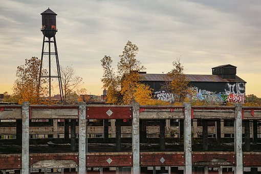 Abandoned, Water Tower, Ruins