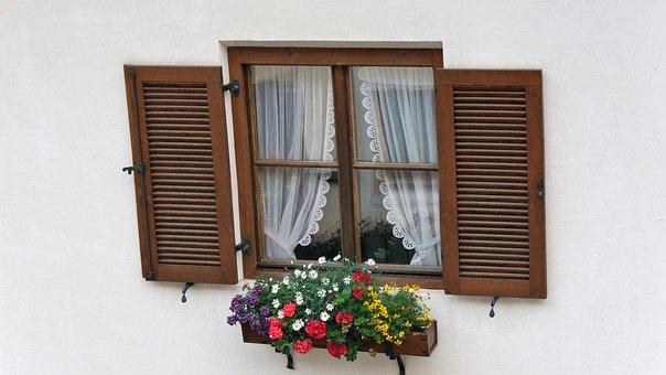 Window, Windows, Flowers, Alps, Hiking, Beautiful
