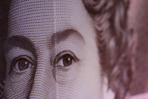 Queen, Currency, Money, Bank Note, Bank, Pound