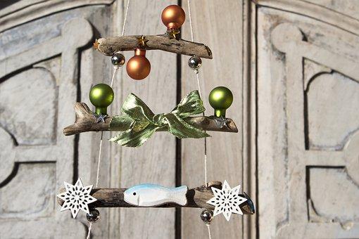 Christmas Tree, Drift Wood, Christmas, Star, Fish, Ball