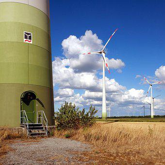 Wind Turbine, Wind Mill, Windfarm, Energy, Clean Air