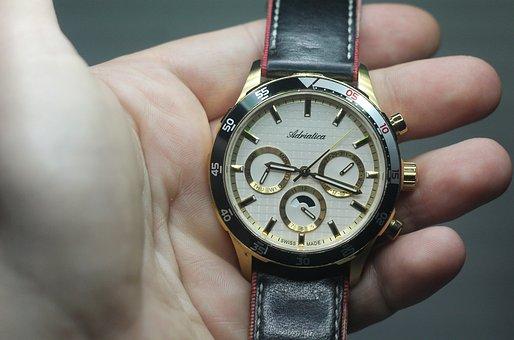Time, Watch, Adriatica, Clock, A Watch Band
