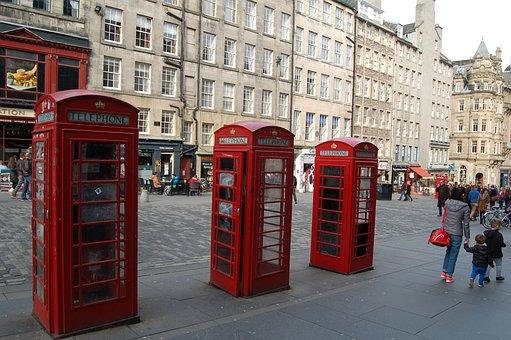 Edinburgh, Royal-mile, Telephone