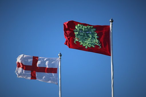 Flag, Flag Pole, England, St George, Kent, Country