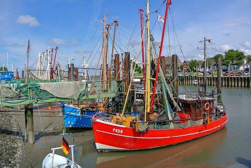 Fedderwardersiel, Shrimp, Fishing Vessel, North Sea