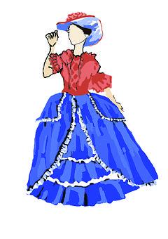 Lady, Dress, Hat