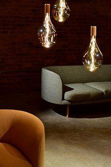 Warehouse, Brick Wall, Lighting, Light Bulbs, Chairs