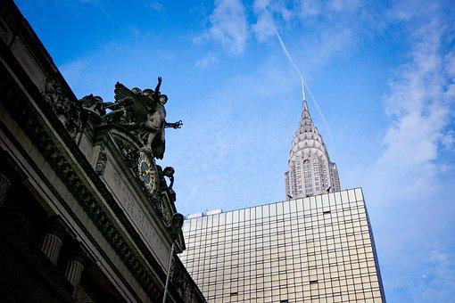 New York, Urban, City, Manhattan, Skyscrapers, Downtown
