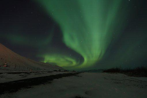 Aurora Borealis, Northern Lights, Iceland, Night Sky