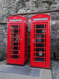 Telephone Booths, Phone, Red, Scotland, England