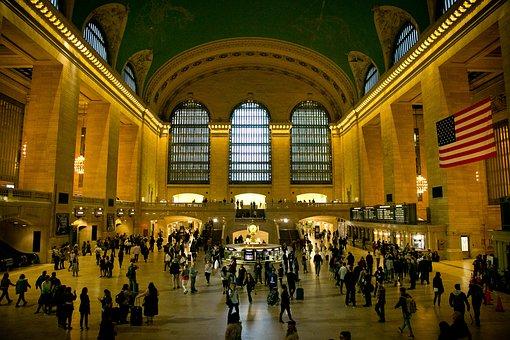 Train, Station, New York, Railway, Travel, Urban