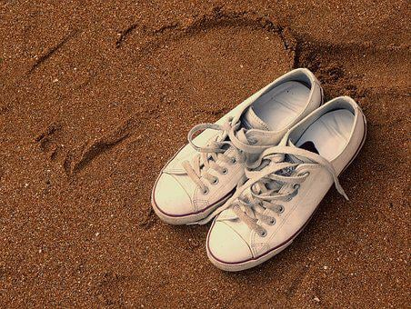 Shoe, Still Life, Sand, Sandy Beach, Footwear, Leave