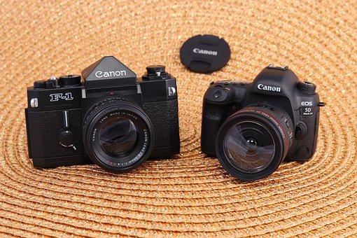 Canon, Camera, Model, F-1, Eos, 5 D, Photography, Slr
