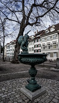 Fountain, Basilisk, Basel, City, Switzerland