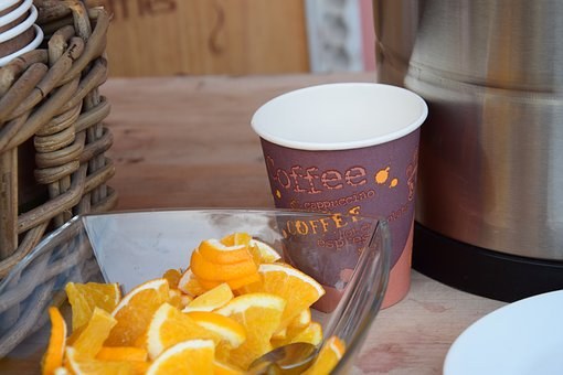 Orange, Coffee, Tasty, Breakfast, Enjoy, Table, Aroma