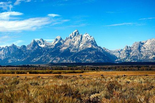 Cunningham Ranch View, Mountains, Prairie, Grand, Teton