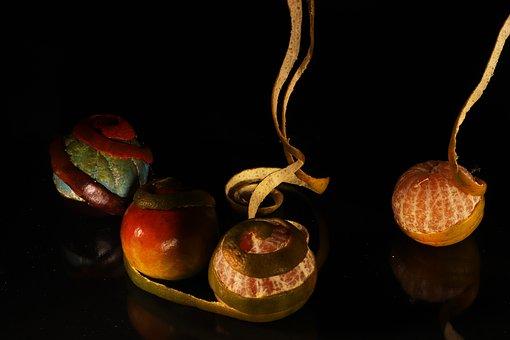 Still Life, Orange, Fruit, Vegetables