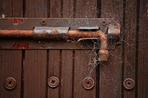 Lock, Latch, Old, Door, Entrance, Metal, Vintage, Wood