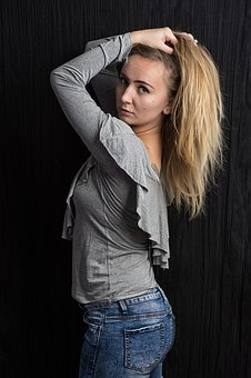 Woman, Hair, Portrait, Young, Model, Blonde, Attractive