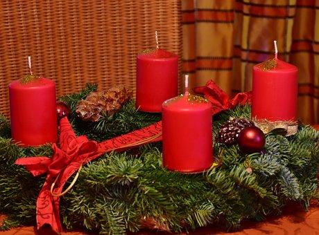 Wreath, Advent Wreath, Christmas, Advent, Decoration