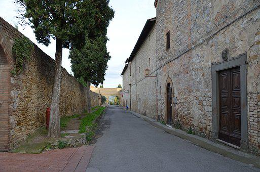 City, Are Giminiano, Italy, Medieval, Europe