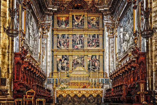 Church, Altar, Shrine, Religion, Art, Architecture, Dom